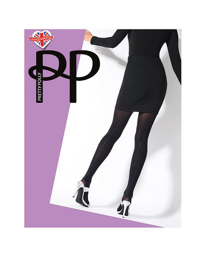 Pretty Polly Gold and Silver  Printed Back Seam Tights