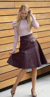 Apparalel Vegan Leather Skirt