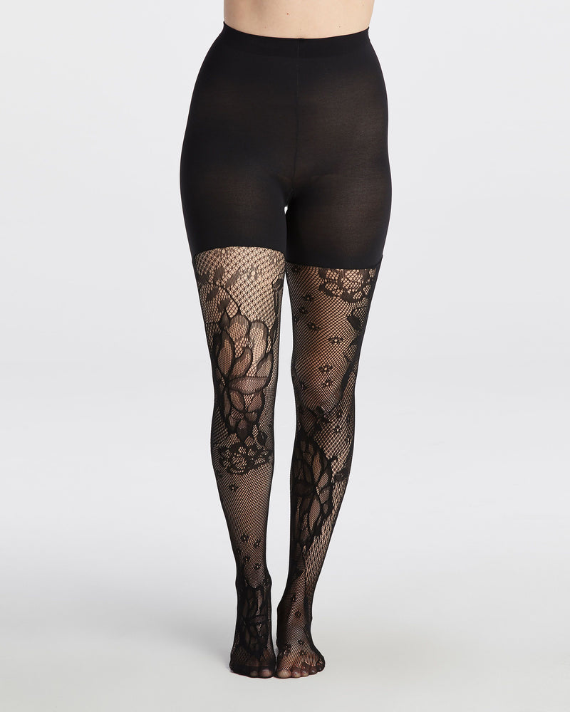 Spanx Fishnet Floral Tights