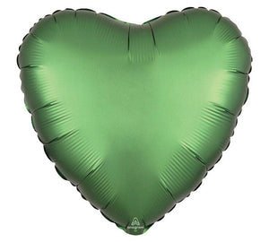 Emerald Satin Luxe Heart Mylar Balloon
