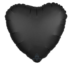 Onyx Satin Luxe Heart Mylar Balloon