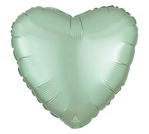 Mint Satin Luxe Heart Mylar Balloon