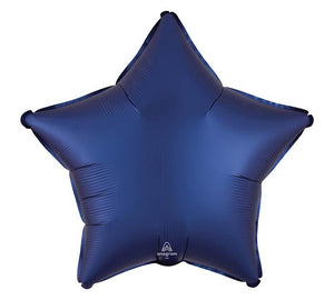 Navy Satin Luxe Star Mylar Balloon