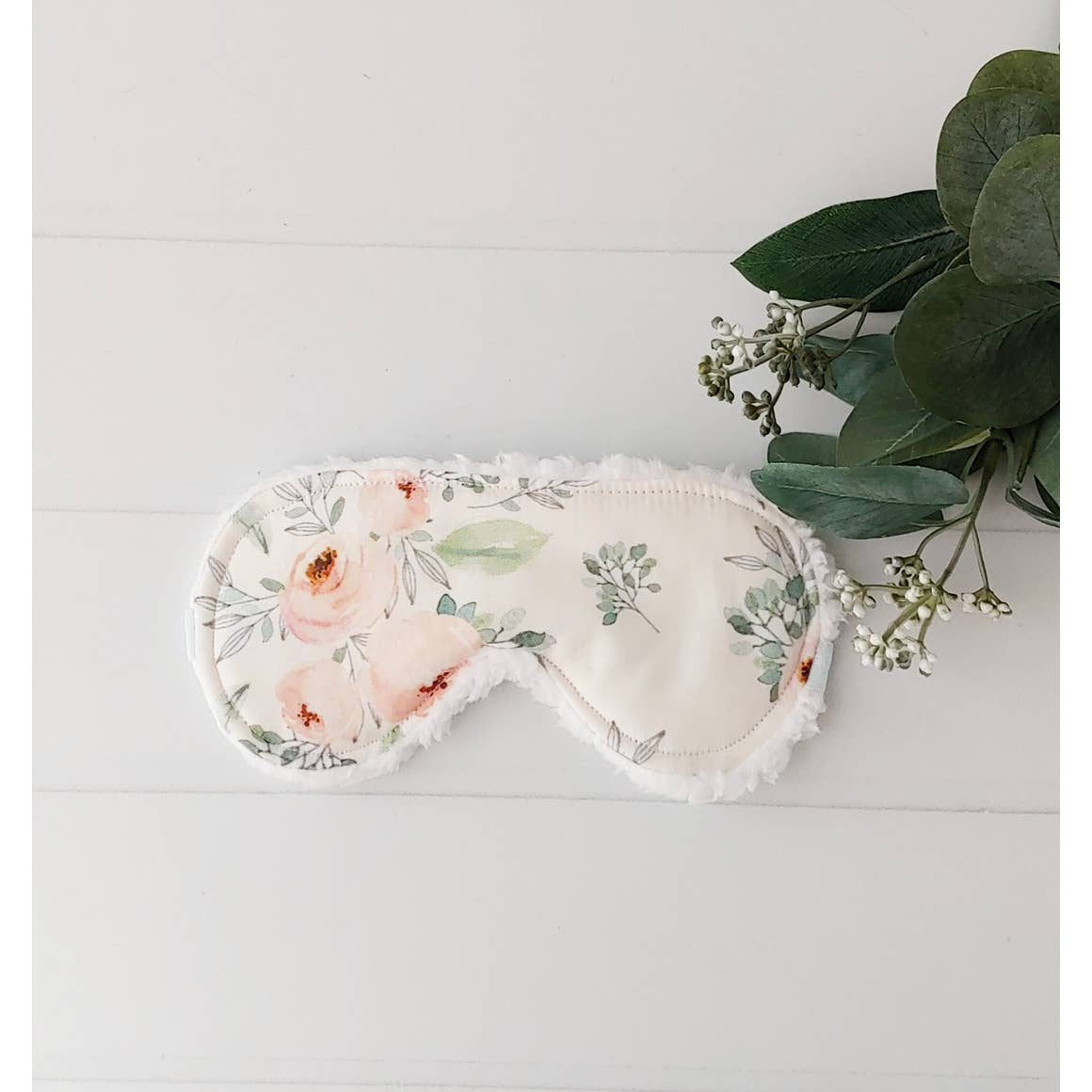 Pastel Pink and Mint Floral Sleep Mask