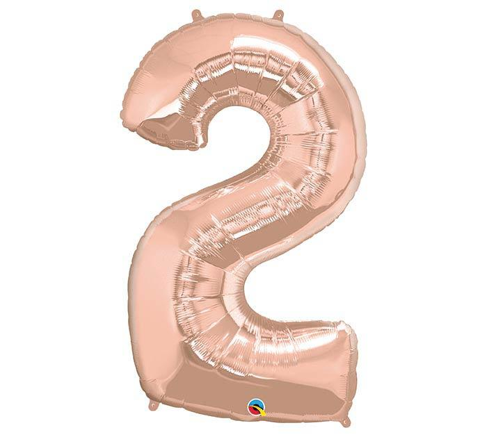 "34"" Number 2 Rose Gold Mylar Balloon"