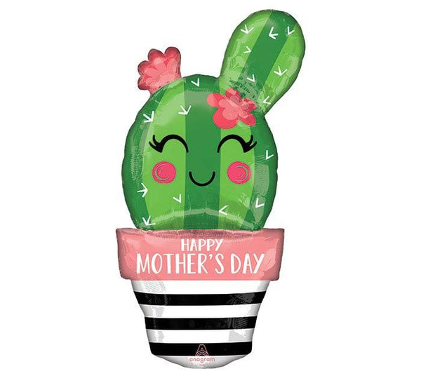 Cactus Happy Mother's Day Oversized Mylar Balloon