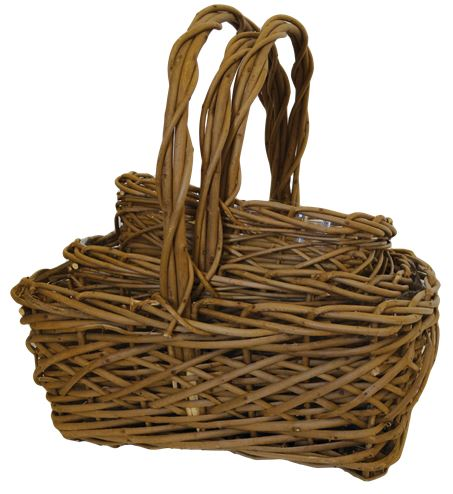 Rectangle Split Acacia Vine Baskets