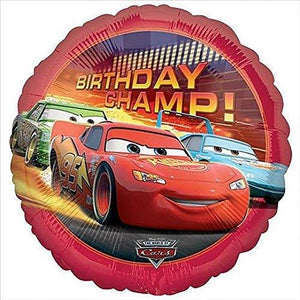 Cars Birthday Champ Mylar Balloon