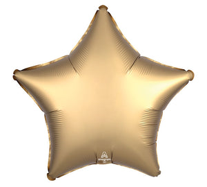 Gold Sateen Satin Luxe Star Mylar Balloon