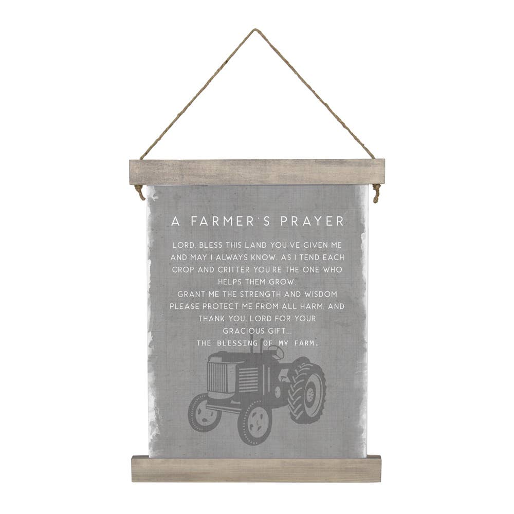 Farmer's Prayer Hanging Canvas Sign