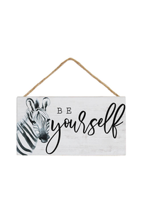 Be Yourself Zebra Wood Sign