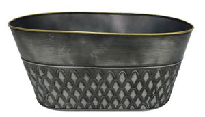 Decorative Oval Metal Pot