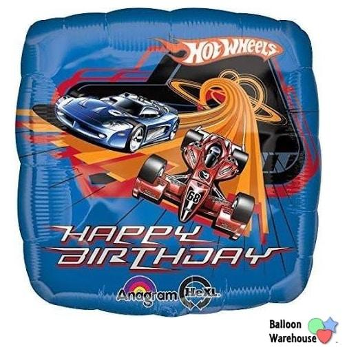 Hot Wheels Happy Birthday Mylar Balloon