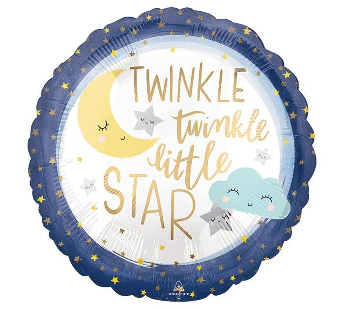 Twinkle Twinkle Little Star Mylar Balloon