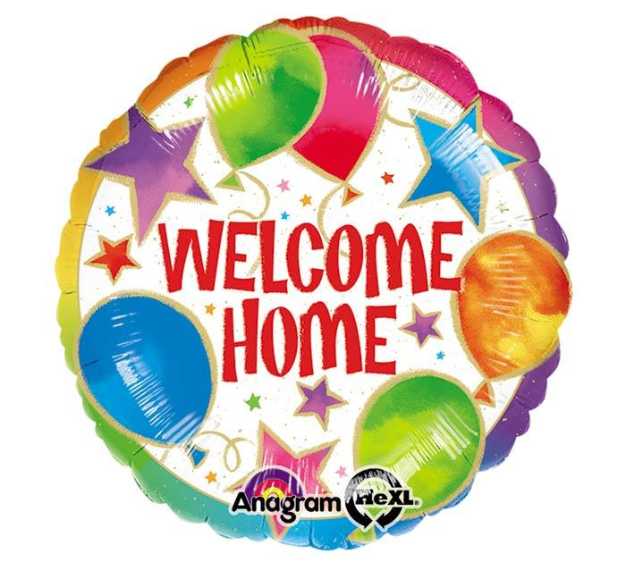 Welcome Home Stars & Balloons Mylar Balloon