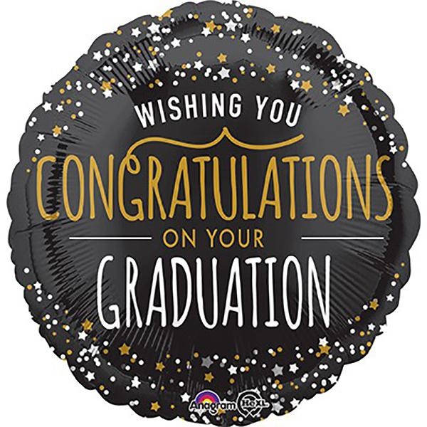 Wishing You Congratulations On Your Graduation Mylar Balloon
