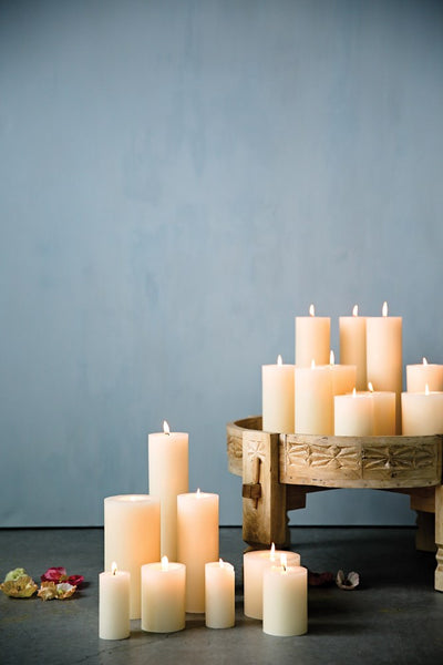 "3"" Round x 8""H Unscented Pillar Candle"