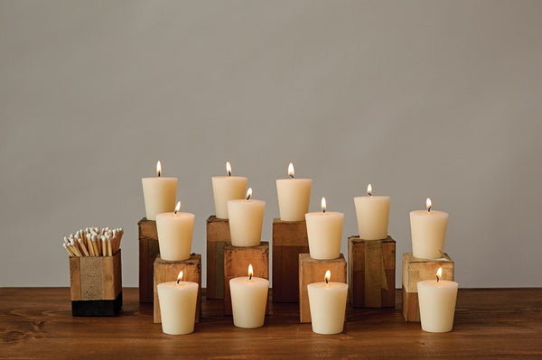 "2""H Unscented Votive Candles In Box, Set of 12"