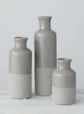 Neutral Grey Ceramic Bottles