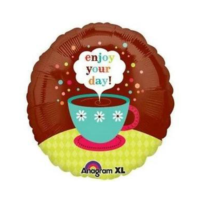 Enjoy Your Day Coffee Cup Mylar Balloon