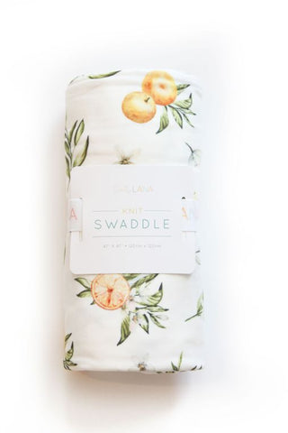 Tangerine Fruit Baby Swaddle