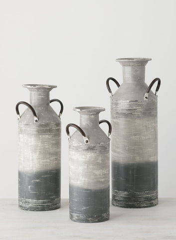 Metal Milk Can Vases