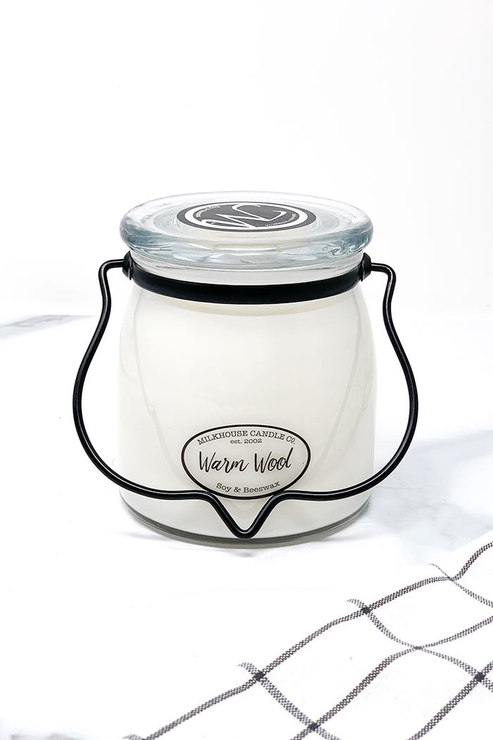 Milkhouse Candle Co. Warm Wool 16oz Candle