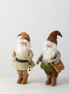 Brown & Green Santa Elves