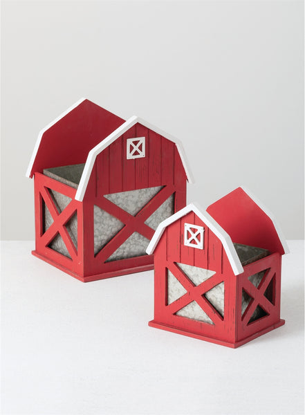Red Barn Planter