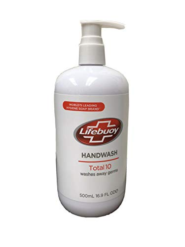 Lifebuoy Handwash Total 10, washes away germs, 16.9 fl oz, 500 ml