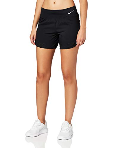 Nike Womens Eclipse 5in Running Shorts Black/Reflective SILV S