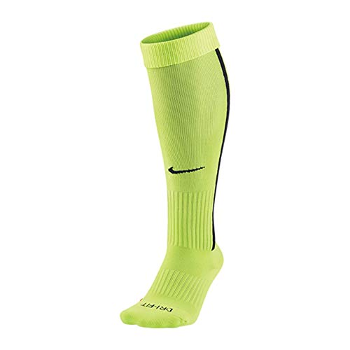 Nike Vapor III Over-the-Calf Team Socks (Small, Volt/Black/Black)