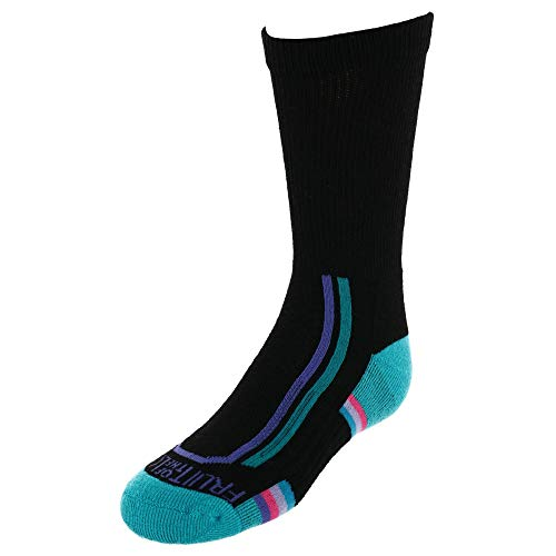 Fruit of the Loom Girl's Active Cushioned Crew Socks (6 Pack)
