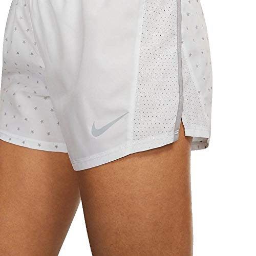"Nike Women's Stars 10K 3"" Lined Running Workout Shorts White/Grey"