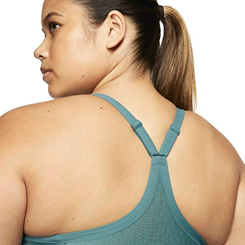 Nike Women's Indy Plus Size Sports Bra - 2X Slim Fit, Running, Yoga, Pilates Bra Black, Turquoise