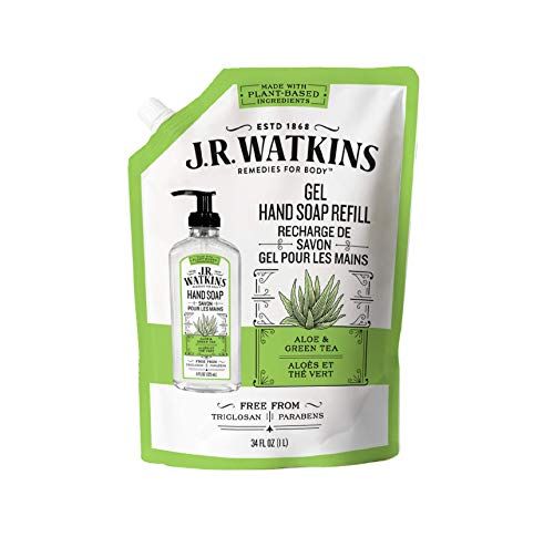 J.R. Watkins Hand Soap Refill, Aloe and Green Tea 34 fl Ounce