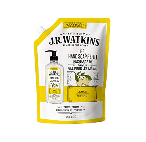 J.R. Watkins Liquid Hand Soap Lemon 34 oz Refill, Pack of 1
