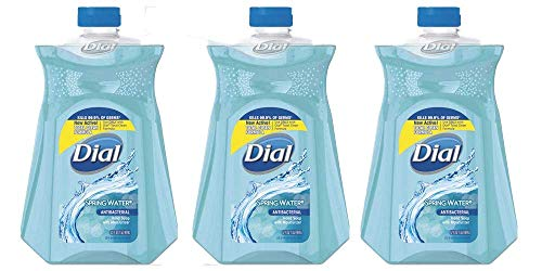Dial Spring Water Antibacterial Liquid Hand Soap (Pack of 3)