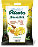 Ricola Dual Action Drops Honey-Lemon - 19 ct, Pack of 2