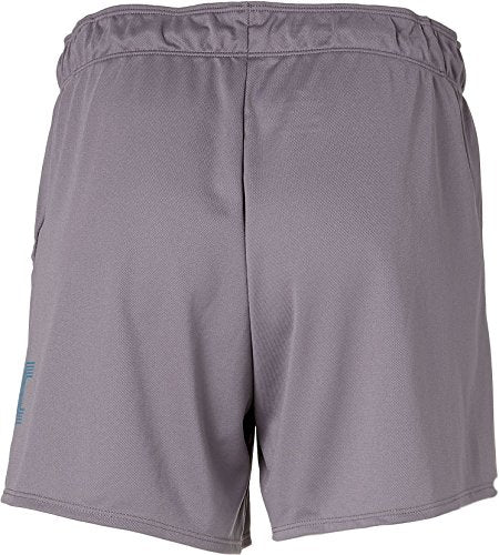 Nike Women's Attack Dry Printed Training Shorts (Gunsmoke/Neo Turq, Small)