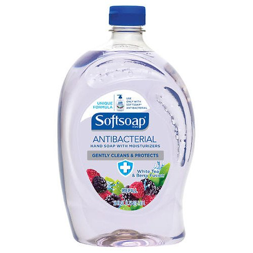 Softsoap Antibacterial Liquid Hand Soap Refill, White Tea and Berry Fusion 56 oz (4 pack)