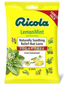 Ricola Big Bag Sugar Free Lemon Mint Cough Drops, 45 Drops, 1 Count by Ricola