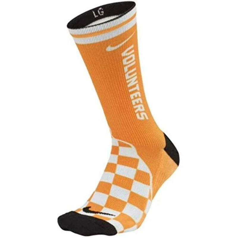 Nike Tennessee 'volunteers' Cushioned Unisex Performance Crew Socks (Single Pair), basketball, football, volleyball (Mens sz 8-12, womens sz 10-13)