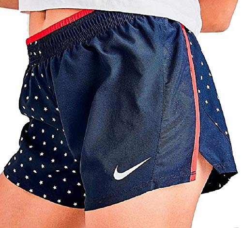 "Nike Women's 10K Stars 3"" Lined Running Training Shorts Anthracite/Red/White"