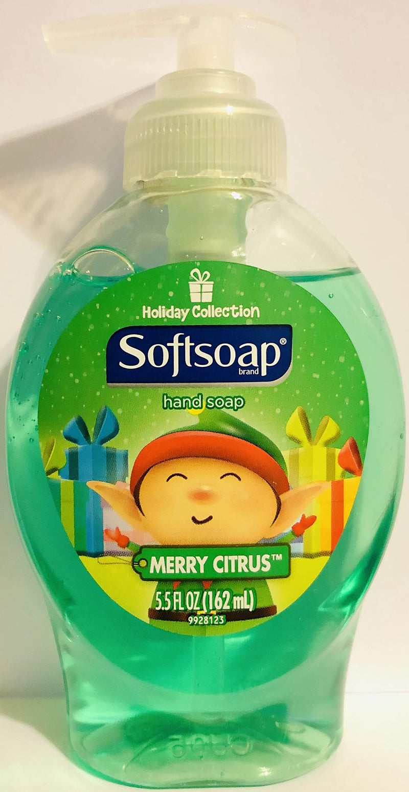 Softsoap Hand Soap - Holiday Collection Net Wt. 5.5 FL OZ (162 mL) each Pack of 4 Bottles