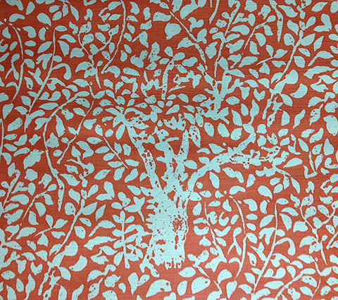China Seas Fabric: Arbre De Matisse Reverse - Custom New Shrimp on Tint