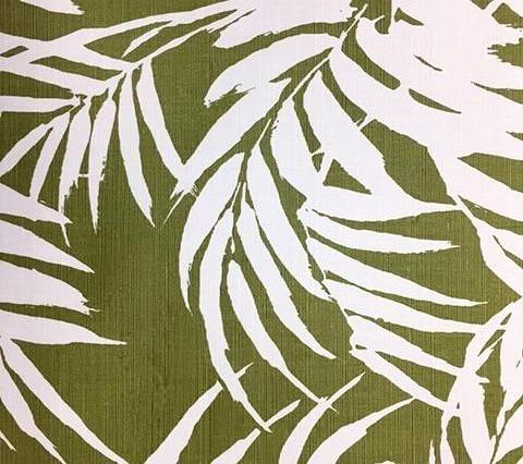 China Seas Fabric: Martinique Reverse - Custom Jungle Green on Tinted Belgian Linen/Cotton