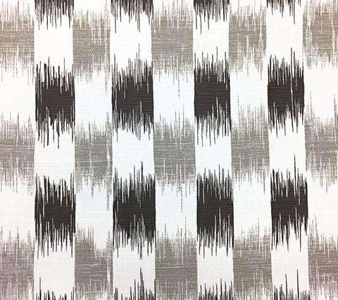 China Seas Fabric: II Blue Ikat - Custom Gray / Steel Gray on White