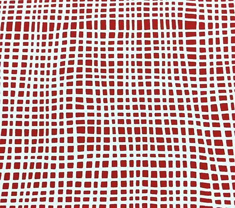 Alan Campbell Wallpaper: Criss Cross - Custom Watermelon Red on White Paper