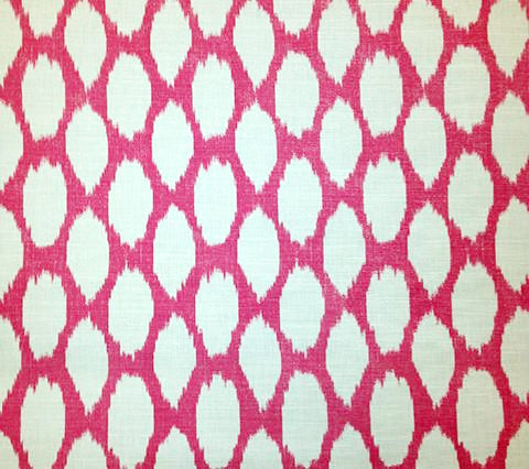 Quadrille Prints: Adras Reverse - New Magenta on Tinted Belgian Linen/Cotton